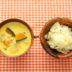 カボチャと鳥ひき肉のカレー風味スープ